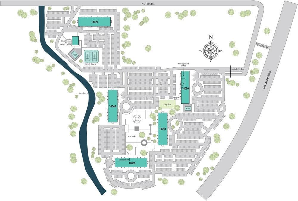Location Map at Aliro Apartments