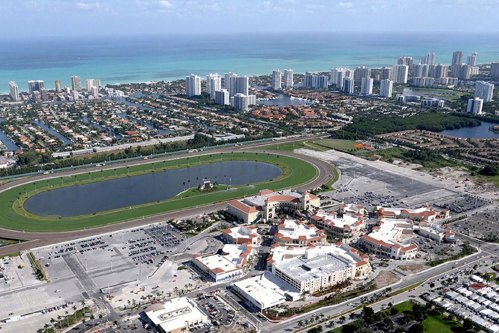 Aerial view of the city near Aliro in North Miami, Florida