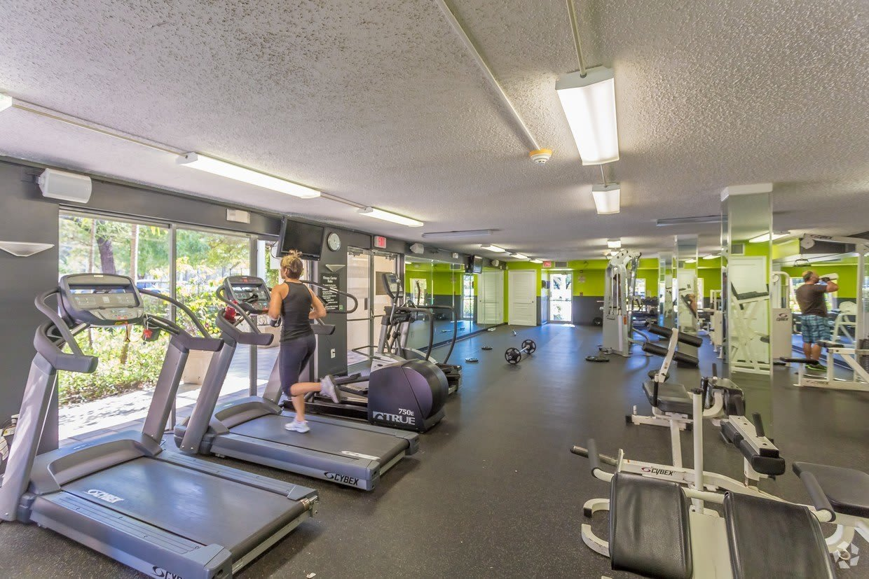 Onsite fitness center at Aliro Apartments in North Miami, FL