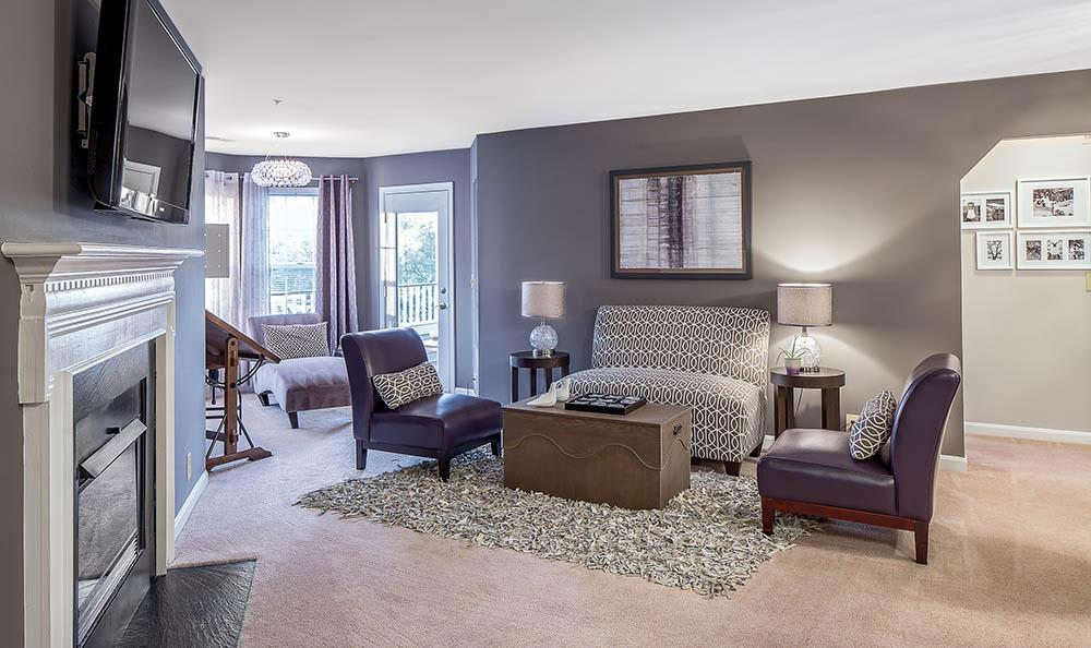 Living Room at Sussex at Kingstowne