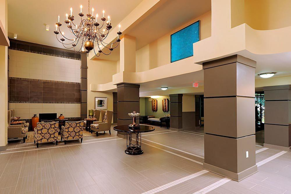 The Warwick Apartments front lobby