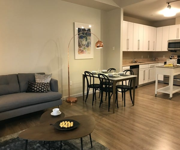 One Bedroom model at The Bohdi at Island Creek Village in Duxbury MA