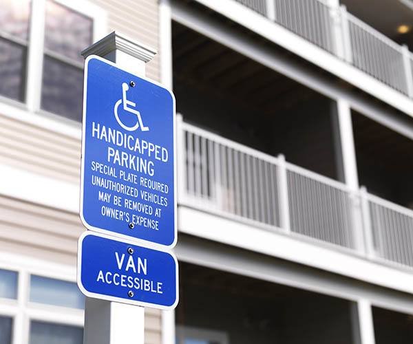 Plenty Of Handicapped Parking at The Bodhi at Island Creek Village in Duxbury