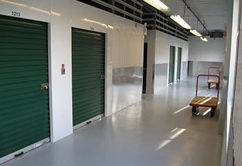 Storage units with carts