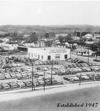 Aerial of dealership