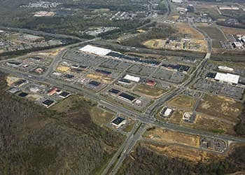 Aerial view of Carter's Crossing in South Stafford, Virginia