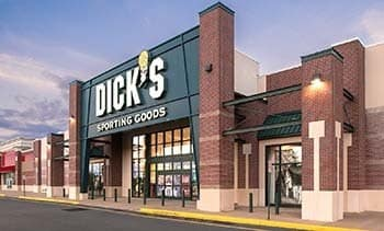 Major retailer, Dick's Sporting Goods, at Cosner's Corner.