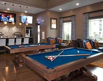 Game room at Silver Collection at The Park
