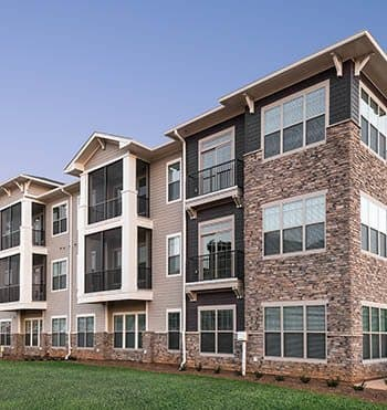 Exterior of Silver Collection, luxury apartment living