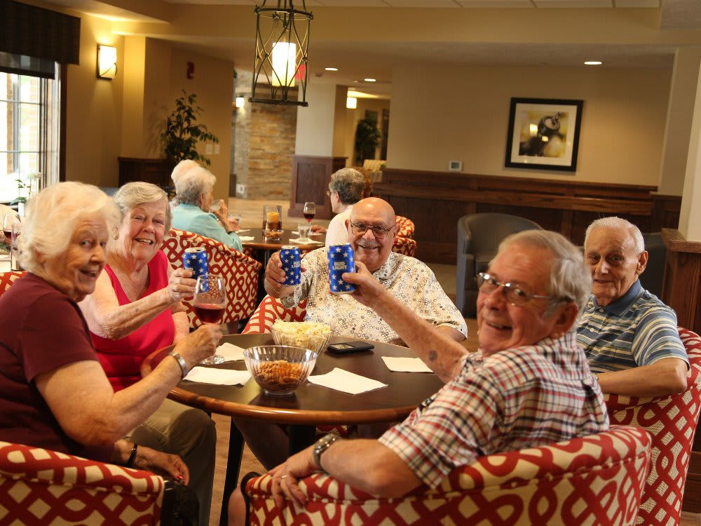 Enjoy happy hour with your friends at The Heritage at Legacy