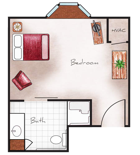 Memory Care Floor Plans at The Heritage at Legacy
