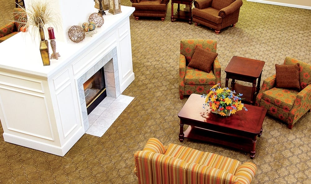 Fireplace At Our Sioux City Senior Living Community