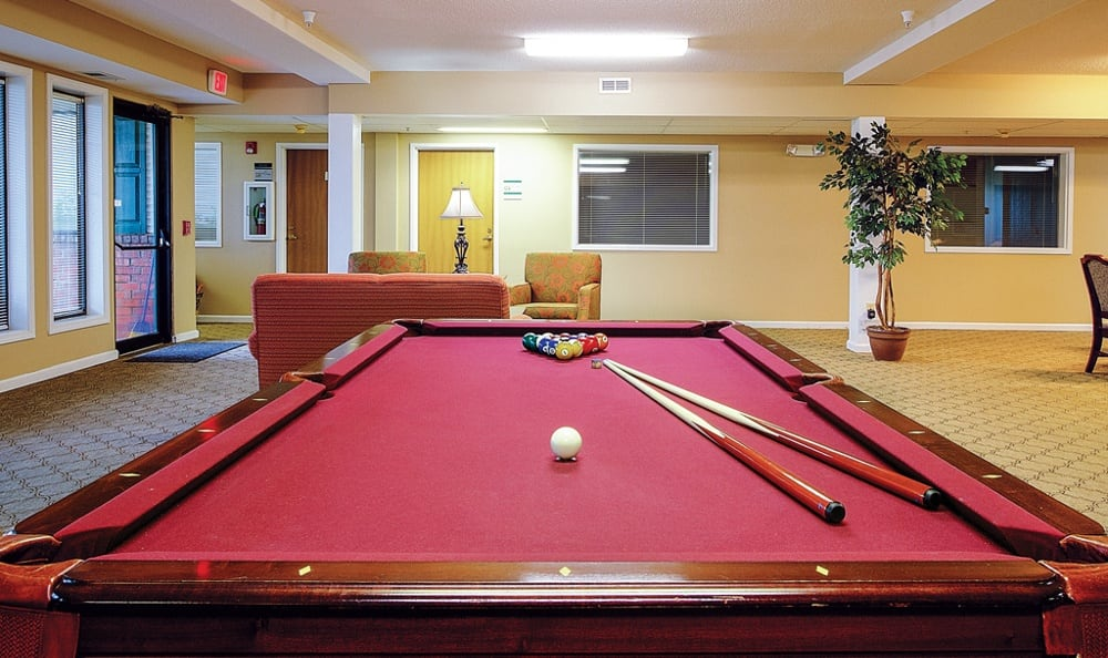 Pool Table At Our Sioux City Senior Living Community