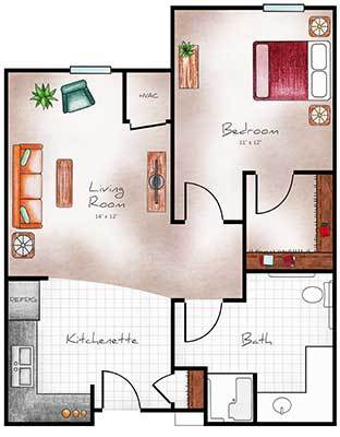 Assisted Living floor plan at The Heritage at Sagewood