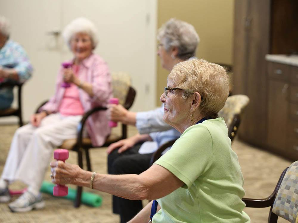 Exercise Classes at The Heritage at Sterling Ridge in Omaha