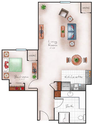 Assisted Living Two Bedroom at The Heritage at Sterling Ridge