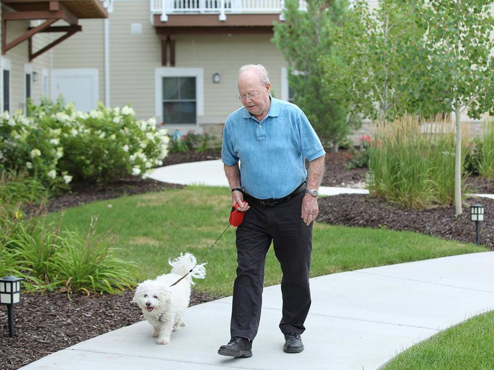 Walk Your Dog at The Heritage at Sterling Ridge in Omaha