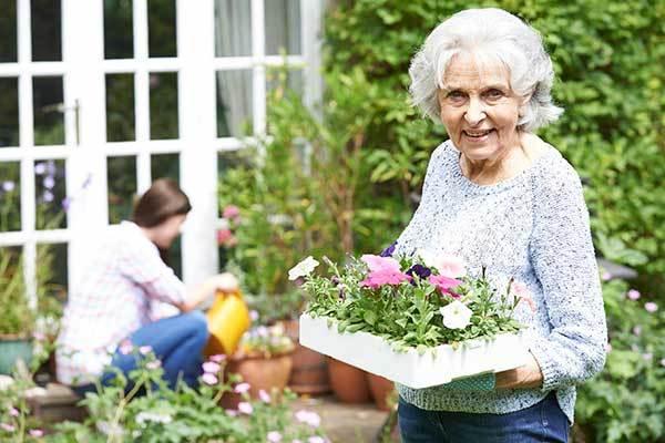 Gardening activity at Osmond Senior Living in Lindon