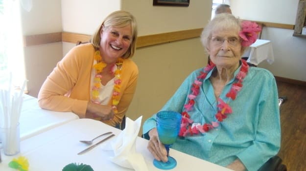 Activity room at Alder Bay Assisted Living.