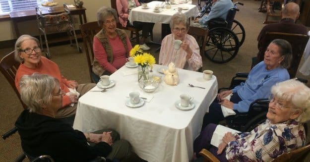 Tea time at Alder Bay Assisted Living.