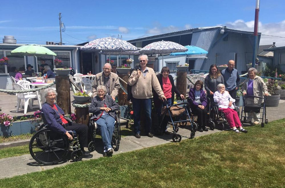 Silly residents at Alder Bay Assisted Living