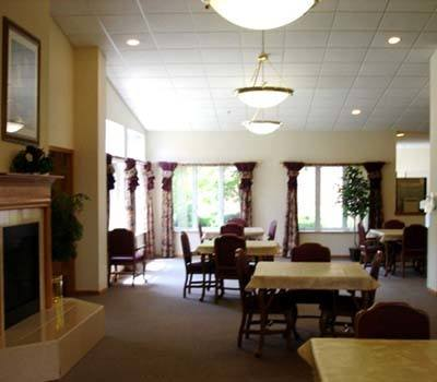 Casual dining room at Avalon Assisted Living Community.