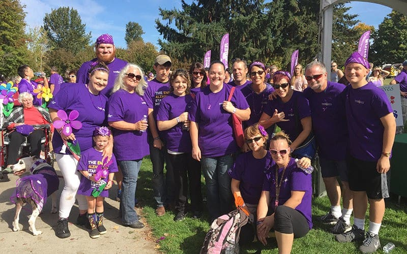 Alzheimer's walk at Bayberry Commons Assisted Living and Memory Care