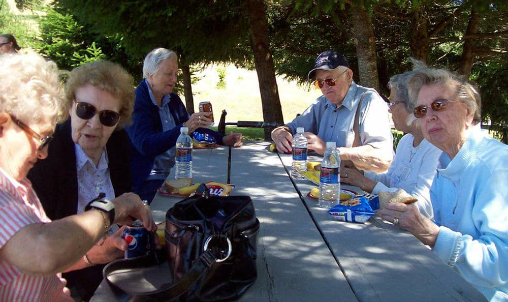 Bayberry Commons Assisted Living and Memory Care offers great patio spaces.