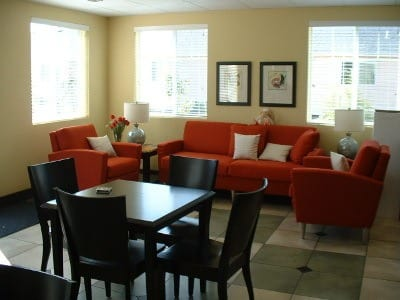 Formal dining room at Bayberry Commons Assisted Living and Memory Care.