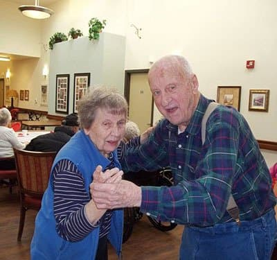 Residents dancing at Bayberry Commons Assisted Living and Memory Care.