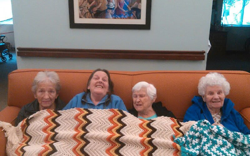 Staying warm at Bayberry Commons Assisted Living and Memory Care