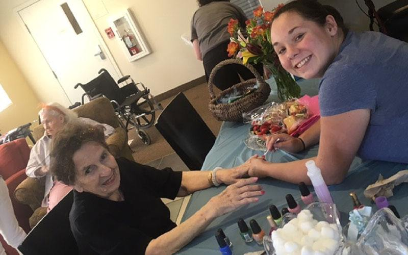 Spa day at Bayberry Commons Assisted Living and Memory Care