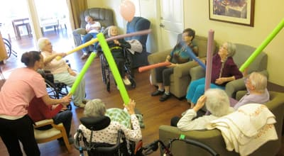 Fun and games at Chateau Gardens Memory Care