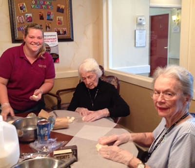 Cooking Corner at Flower Mound Assisted Living.