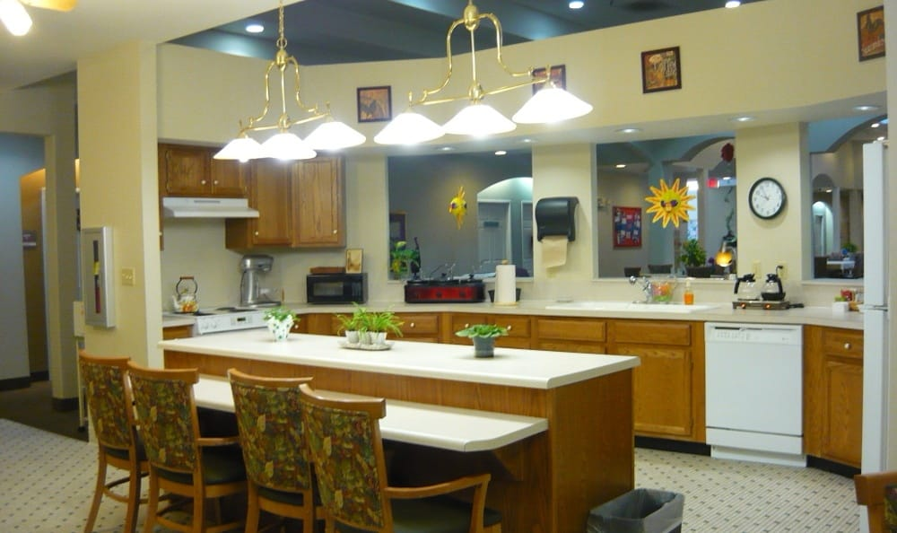 Garden Square Assisted Living of Casper offers great kitchen space.