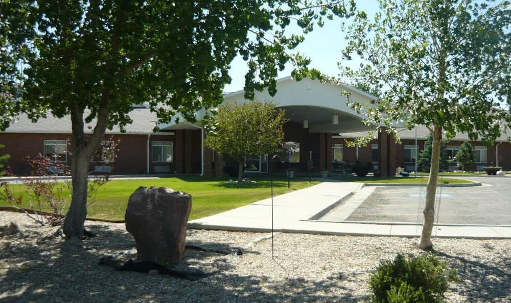 Front entry at Garden Square Assisted Living of Casper