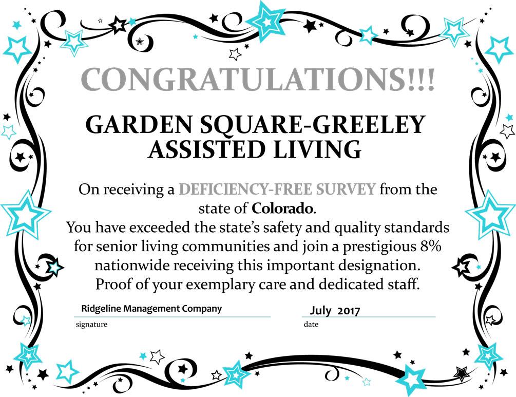 Deficiency-free survey