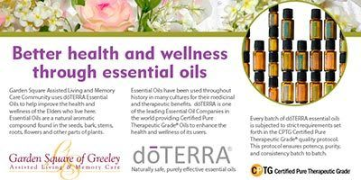 Essential oils at Garden Square of Greeley Assisted Living and Memory Care