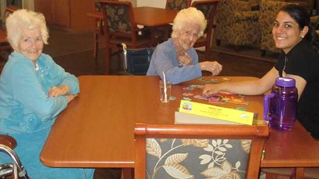 Activity room at Garden Square of Greeley Assisted Living and Memory Care.