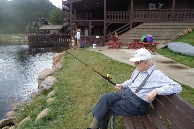Fishing at Garden Square of Greeley Assisted Living and Memory Care