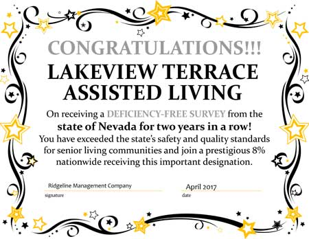 Deficiency Free Award - Lakeview Terrace