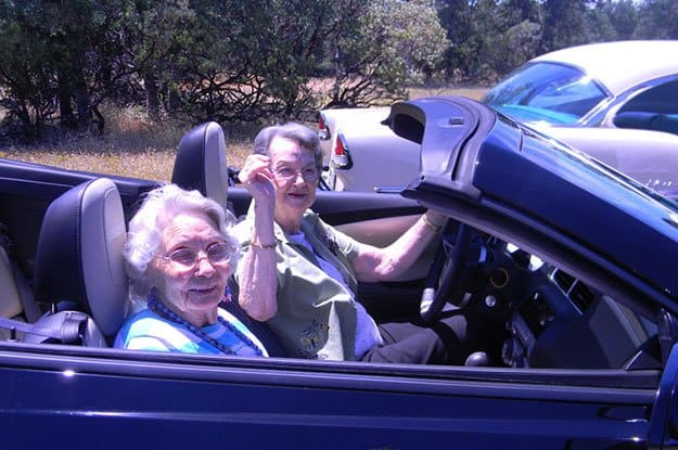 Seniors taking a drive at The Vistas Assisted Living and Memory Care