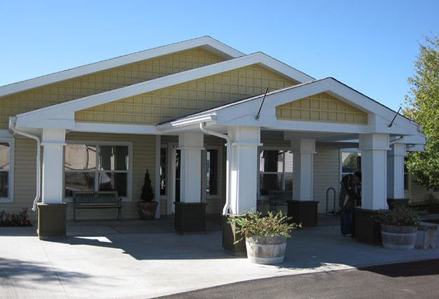 Front entry at Prairie House Assisted Living and Memory Care