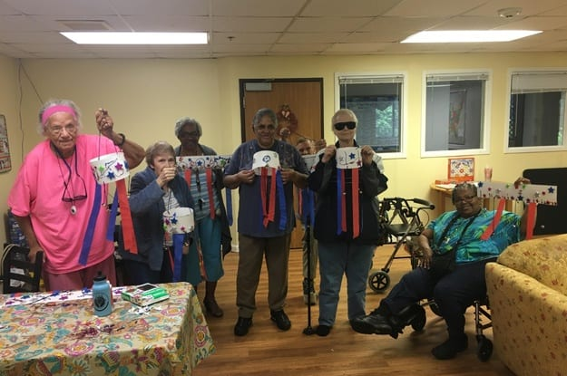 Festive crafts at senior living in South Bend