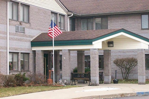 Front entry at Wood Ridge Assisted Living