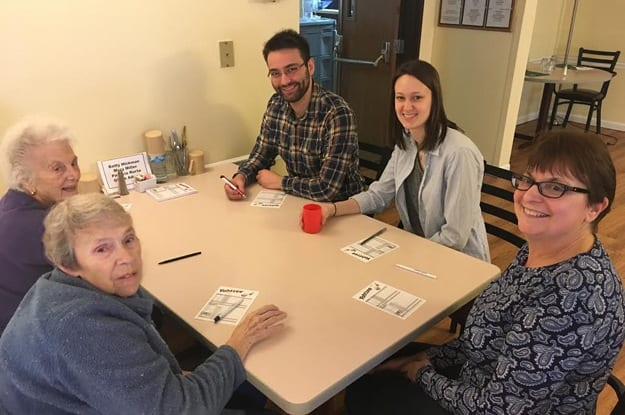 Game night at senior living in South Bend
