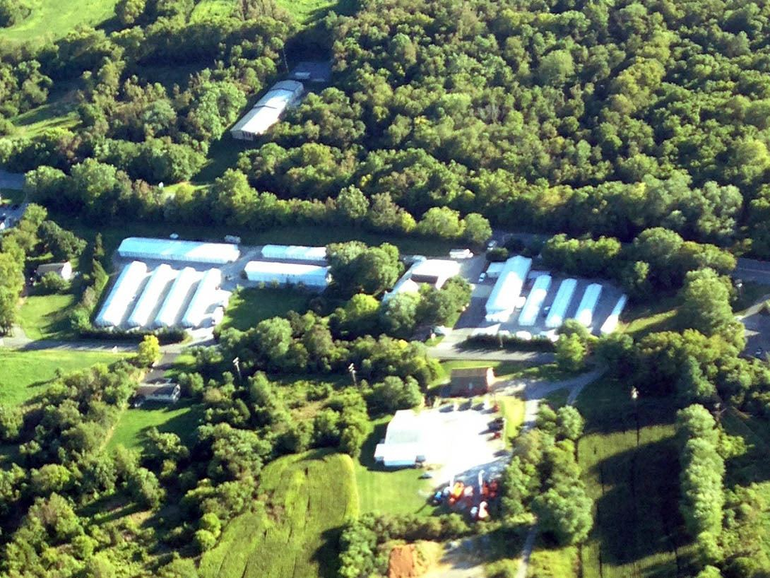 Aerial view of the Beaver Creek Mini-Storage facility