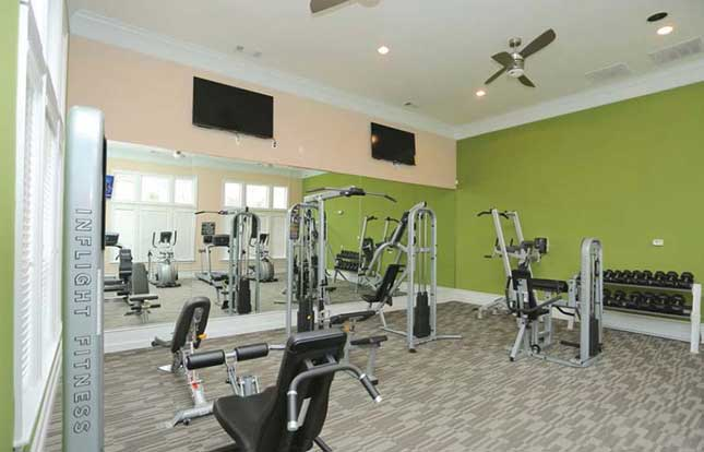 Get buff in the fitness center at Belle Vista Apartment Homes.