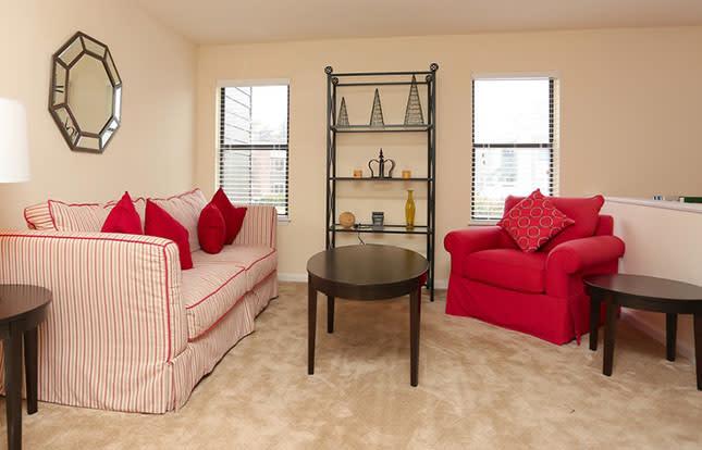 Apartment Living Room At Parc Shores