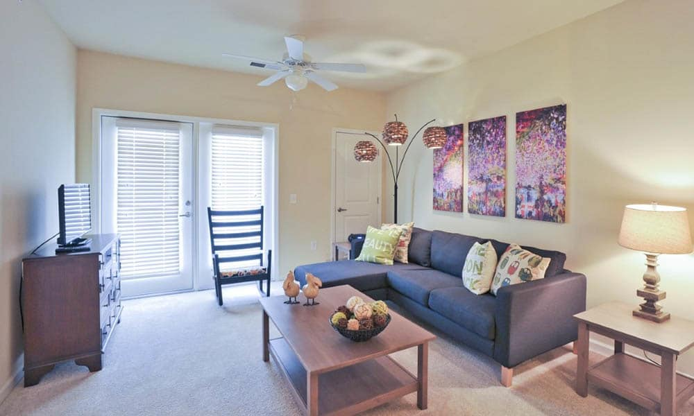 Living room option at Level at 401 in Raleigh